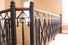 Greenbrier Railing 1 (karinedch) Tags: metal hammered hand kentucky made westvirginia blacksmith railing railings luxury forged thegreenbrier maynardstudios