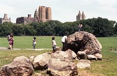 Central Park Sheep Meadow I played on that rock too (triebensee) Tags: film 50mm nikon f2 nikkor ais f15 dp1 fujicolorsuperiaxtra800 fujifilmsuperiaxtra800 walkingaroundnyc