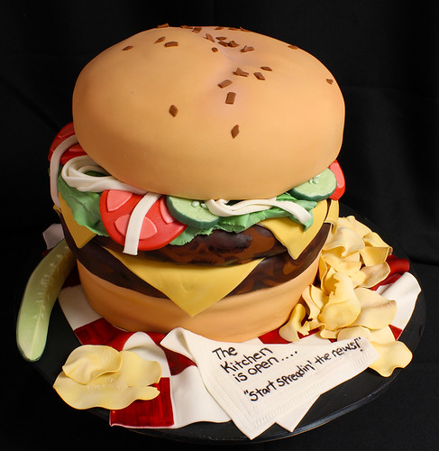 Cheeseburger and Chips Cake