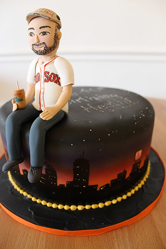 Boston Skyline Red Sox Fan Birthday Cake