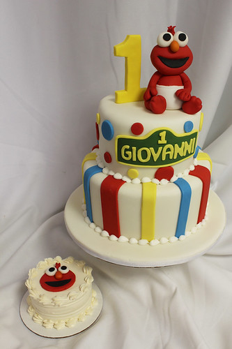 Baby Elmo Custom and Smash Cake