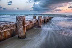 Folly Beach (DustinAhrens) Tags: ocean sunset sky beach water clouds landscape outdoors photography southcarolina bluesky charleston follybeach atlanticocean d7100 dustinahrens