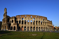 The Colosseum in Rome (MNTravelingMan84) Tags: sunset italy streets rome building history architecture amazing europe basilica pantheon arc engineering historic colosseum romans masterpiece stpetersbasilica ancientrome