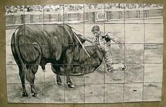 Mural cermico Juan Belmonte (Art Antic - Azulejos Artesanos) Tags: juan belmonte torero decoracin muralcermico cermicaartesanal muralescermicos