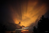 Fiery Sunset 2 (lowebowes) Tags: sunset sky weather clouds fire golden streaks goldensunset sunbeams goldenclouds