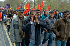 Free Tamil Eelam protest 11/04/2009 (Gary Kinsman) Tags: london protest demonstration rally tamil tigers tamileelam liberationtigersoftamileelam ltte srilanka india freedom homeland sigma2470mmf28 politics ethnicity conflict march canon350d canonrebelxt parklane w1 2009 people person