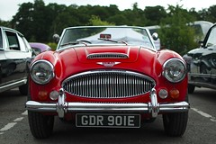 Austin Healey 3000 MkIII (FurLined) Tags: red austin 3000 healey brooklands 2014 mkiii classiccarshow