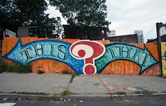 this that (emmcnamee) Tags: street streetart art graffiti graphics mural astoria eileen mcnamee welling emmcnamee eileenmcnamee wellingcourt