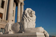 Lion Statue (O.S. Fisher) Tags: statue canon photography utah photo lion saltlakecity saltlake photograph creativecommons canonrebel marble attribution statecapitalbuilding attributionlicense shaunfisher canonrebelt1i osfisher olivershaunfisher