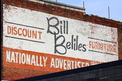 Bill Beliles Furniture painted ad - Hopkinsville, KY (SeeMidTN.com (aka Brent)) Tags: mural kentucky ky ad advertisement us68 us41 hopkinsville christiancounty discountfurniture bmok bmok2 billbeliles nationallyadvertised