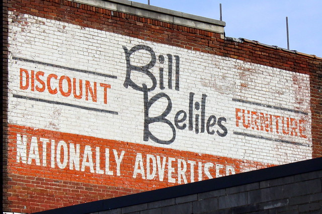 Bill Beliles Furniture painted ad - Hopkinsville, KY