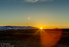 Sunset (PhotoRys) Tags: travel sunset mountain lake hot flower grass clouds canon volcano lava iceland view north scenic crater sulphur grassland travelblog hverfjall herubrei mvatn hverir altewedrowki photorys