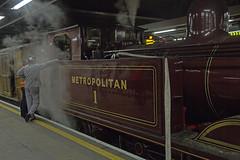 Metropolitan No.1 (Hawkeye2011) Tags: uk london train metro tube railway steam locomotive londonunderground metropolitanline tfl 2014 moorgatestation metropolitanno1 lu150