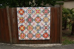 Finished Tone It Down Quilt (Crazy Quilt Lena) Tags: magazine crazy pattern quilt low down it lena american patchwork tone volume 2014 may25