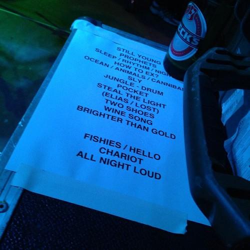 Tonight's setlist from FZW, Dortmund. Germany. #tcedoeuro #andietheroadie #becksisgermanforbeer