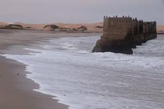 KCC_1513 (kccornell) Tags: ocean africa bridge sea beach coast sand desert dune wave atlantic foam column namibia swakopmund