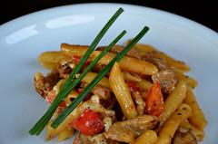 Casserole (High Performer) Tags: food essen nikon august casserole delicious pork foodporn noodles noodle taste chives schwein fleisch nudeln lecker nudel 2014 auflauf foodgasm d7000 foodlicious