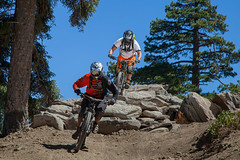 Big Bear Mountain Resorts Bike Park at Snow Summit in Big Bear Lake, California. Rock Garden Riding.