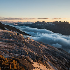 Le Glacier du Tour (Guldenfels-photos) Tags: sunset am nikon tour albert glacier nuages chamonix 1er refuge i d700