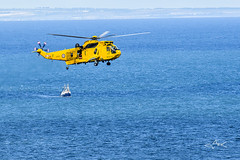 Air Sea Rescue (Mike Clark 100) Tags: blue orange st yellow scotland big lifeboat approved seas mikeclark abbs hellicopter