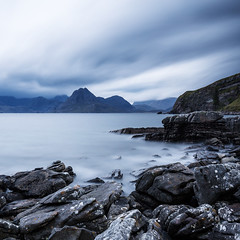Elgol. (Willem Eelsing) Tags: longexposure sea mountains skye nature rain canon bay scotland rocks day isleofskye cloudy ngc cuillins cuillinhills elgol