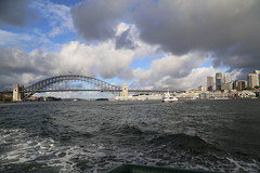 harbour bridge Circular Quay - Milsons Point - Darling Harbour Ferry_1498 (gervo1865_2 - LJ Gervasoni) Tags: winter water ferry point ride harbour north sydney australia august nsw darling milsons 2014 photographerljgervasoni