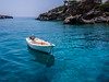 White boat on a turquoise water