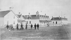 A group of students in front of the school buildings of Washakada Indian Residential School, Elkhorn, Manitoba, circa 1900 / Groupe dlves devant les difices du Pensionnat indien de Washakada, Elkhorn (Manitoba), vers 1900 (BiblioArchives / LibraryArchives) Tags: canada students lac manitoba 1900 elkhorn bac libraryandarchivescanada lves bibliothqueetarchivescanada residentialschools indianindustrialschool truthandreconcilationcommissionofcanada commissiondevritetrconciliationducanada pensionnats boorneampmay washakadaindianresidentialschool pensionnatindiendewashakada