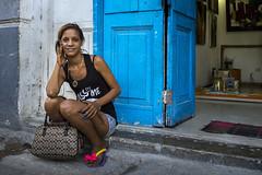 La Habana Kiss Me _DSC8058 (ciao) Tags: street travel blue portrait colors zeiss 35mm interesting women sony havana cuba documentary explore sonnar rx1r