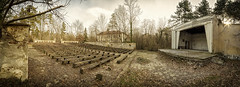 Performance Space (The New Motive Power) Tags: winter panorama abandoned theatre sofia wide bulgaria silence seating bandstand seminary derelict auditorium   canon7d
