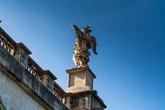 Angel & Seagull (Fran4Life) Tags: street bridge blue sky italy rome roma photography nikon italia seagull streetphotography angels tevere sanpietro gabbiano castel castelsantangelo santangelo d7100