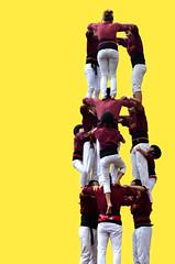 Cooperation (marinadelcastell) Tags: castellers cooperation teamwork gruppenarbeit zusammenarbeit castell cooperazione humantower yellowbackground coopération cooperación trabajoenequipo cooperació gruppodilavoro treballdequip collaborationdéquipe