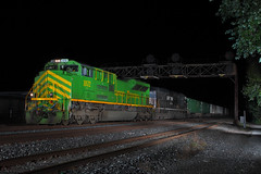 IT had to be done.. (Embee 2110) Tags: alienbees trainatnight ns21z norfolksouthernchicagoline ns1072 cp506 whitingindianarailroad marshallwbeecher illinoisterminalheritageengine