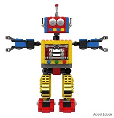 LEGO Creator - Clockwork Robot (31040) (Adeel Zubair) Tags: college design robot lego clockwork creator product 31040