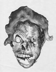 Moon Monster paper Shock Monster mask