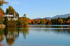 Lake Placid: Mirror Lake Inn (dianecordell) Tags: autumn nature leaves lakes september foliage newyorkstate lakeplacid keenevalley
