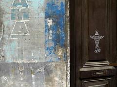Montevideo 2013 (Gabri Le Cabri) Tags: street door blue art grey graffiti decay lettering montevideo alfalfa