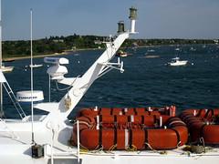 Ferry, Edgartown MA (Boston Runner) Tags: ferry harbor ship capecod massachusetts tourist marthasvineyard edgartown chappaquiddick 2015 liferafts