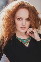 Ivory Flame (Roj) Tags: portrait beauty sunshine fashion model bokeh headshot redhead chester redhair shallowdof ivoryflame canon5dmkii statementnecklace canonef70200mmf28isiiusm originalphotographer photographersontumblr