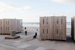(Peter de Krom) Tags: hvh beach wind storm wheelchair push hard tough sea horizon houses sand pulling