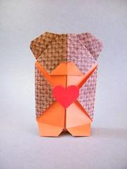 Nounours (Teddy Bear) - Viviane Berty (Rui.Roda) Tags: origami papiroflexia papierfalten oso osito urso ursinho ours nounours teddy bear viviane berty