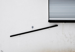 water faucet (TeRo.A) Tags: waterfaucet vesipiste window ikkuna kaide railing handrail seinä wall minimal bw porvoo happyjoe