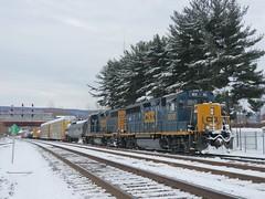 CSX 6512 and 2007 (Trains & Trails) Tags: y29010 yn3b darkfuture rebuilt emd standardcab gp403 gp383 csx train railroad engine locomotive diesel transporation connellsville pennsylvania fayettecounty snow winter cold february 6512 2007