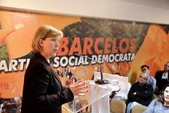 Maria Luís Albuquerque em Barcelos