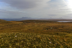 Assynt near Point Of Stoer (hobbes_s2001) Tags: scotland sutherland assynt stoer highlands atlantic coast west moor moorland lake loch heather green brown mountain hill tundra plain walking hiking trekking outdoor remote rural arctic peaceful scenic rock grass landscape view beautiful celtic gaelic vast empty nature wilderness wild rough united kingdom uk peace sky
