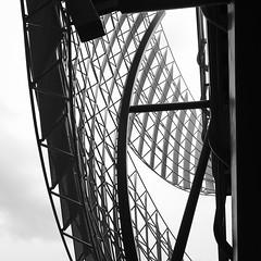 Sails of Steel (Richard Reader (luciferscage)) Tags: 2017 fuijifilmxt2 fuji fujixt2 london march jpeg sooc londonbridge stairs sails steel mesh