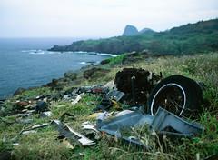 The remains of a Pontiac Grand Prix (pabs35) Tags: hawaii maui film believeinfilm fuji fujifilm fujichrome mediumformat 120 velvia velvia50 mamiya m645 1000s mamiyam6451000s pontiacgrandprix pontiac grandprix westmaui dilapidated