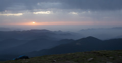 sunrise on the mountain Goverla 2 (intui.pro) Tags: carpathians september autumn hiking camping travel forest green ukraine outdoor landscape mountainside hill foothill grassland field mountain cliff crag sunrise sky