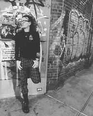 #RyanJanekWolowski #GreenwichVillage #NYC #punk #redplaid #plaid #zipper #zipperpants #combatboots #photoshoot 388 #WestStreet #WestSideHWY #WestSideHighway #Badlands #Nightclub #BadlandsVideo #VideoStore #WestVillage #ChristopherStreet #ChristopherSt #pu (RYANISLAND) Tags: instagramapp square squareformat iphoneography uploaded:by=instagram moon punk boots combatboots badlands