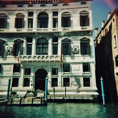 Venician windows 1 (sonofwalrus) Tags: holga film lomo lomography scan venice italy europe italia windows architecture building venezia xpro xprocessing canal water